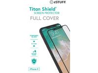 ESTUFF Apple iPhone X Full Black Titan Shield Screen Protector ES501510 - eet01