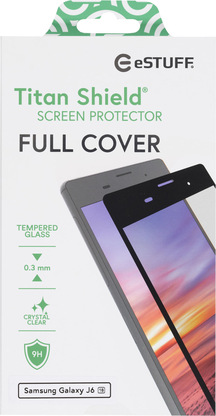 ESTUFF Samsung Galaxy J6 (18) Full Bl Titan Shield Screen Protector ES504027 - eet01