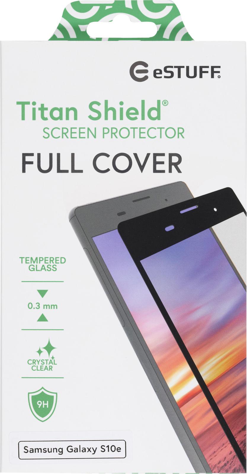 ESTUFF Samsung Galaxy S10e  Full Blac Titan Shield Screen Protector ES504029 - eet01