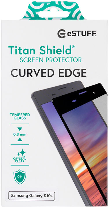 ESTUFF Samsung Galaxy S10+  Curved B Titan Shield Screen Protector ES504031 - eet01