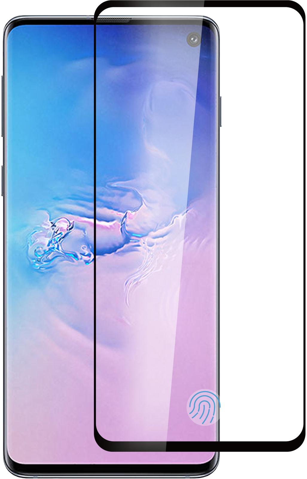 ESTUFF Samsung Galaxy S10 Black Curved Edge, Full Glue  ES504054 - eet01