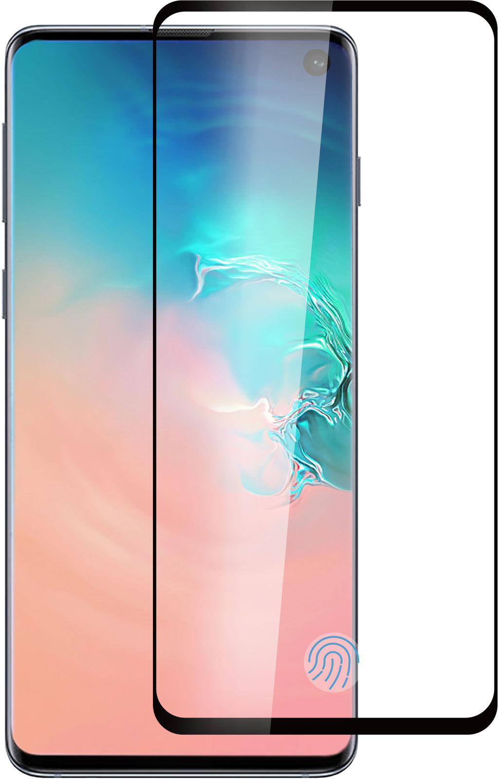 ESTUFF Samsung Galaxy S10+ Black Curved Edge, Full Glue  ES504055 - eet01
