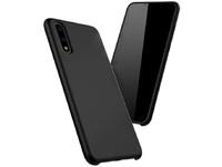 ESTUFF Huawei P20 Lite Silicone case Black silk touch ES675005 - eet01