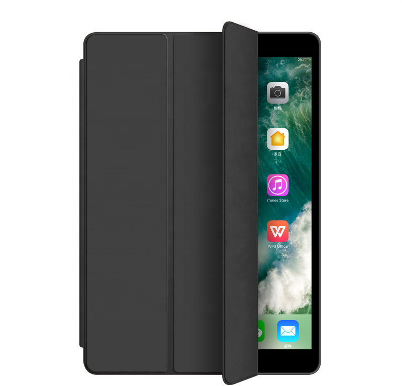 ESTUFF Folio case iPad 10.2 2019 Black. PU leather front with  ES682050-BULK - eet01