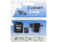 ESTUFF 4in1 Micro SD 64GB Class10 Micro SD card ES7103 - eet01