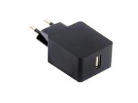 ESTUFF Home Charger 1 USB QC2.0 EU plug. Quick Charge up to 4x ES80128-BLACK - eet01