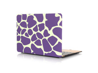 "ESTUFF MacBook Air 13"" Purple Giraffe Hardcover ES82115-02 - eet01"