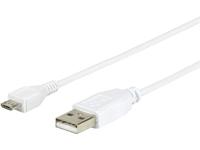 ESTUFF MicroUSB Cable 2m MicroUSB M - USB A M ES84001-2M-WHITE - eet01