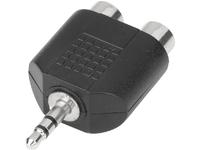 ESTUFF Phono - Minijack Adapter 2 x Phono F - Minijack M ES84528-BLACK - eet01