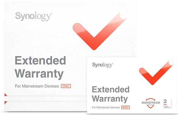 Synology Extented Warranty 1xDevice Pack - Physical EW202 - eet01