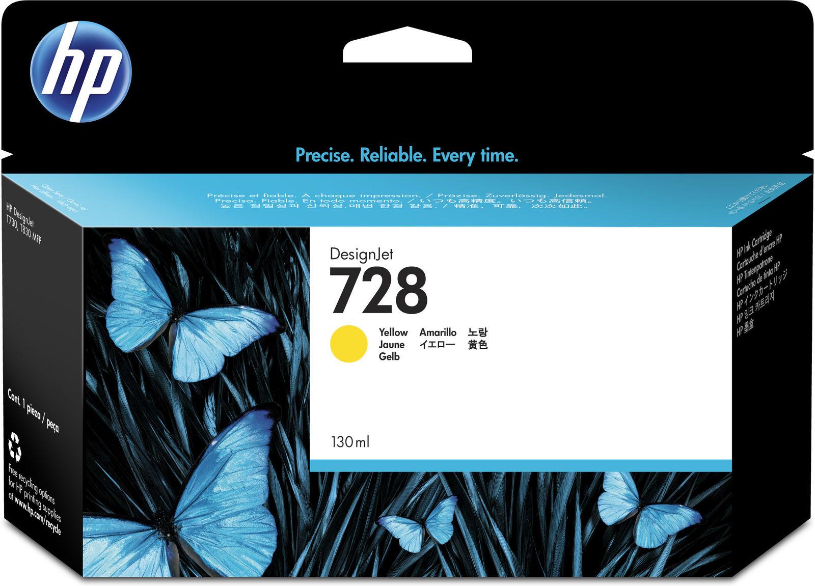 HP Ink 728 Yellow  F9J65A - eet01