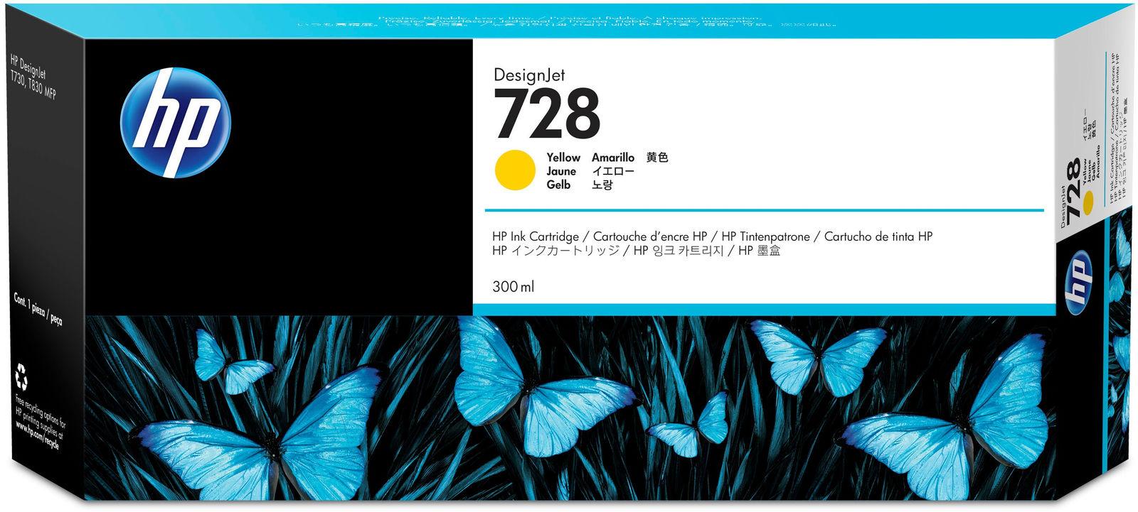 HP Ink 728 Yellow  F9K15A - eet01
