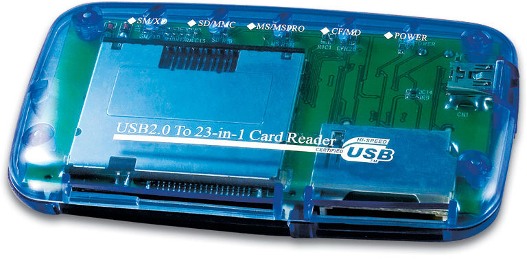 Gembird USB 2.0 Card Reader  FD2-ALLIN1 - eet01