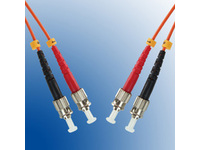 FIB110003 MicroConnect ST/PC-ST/PC 3M 62.5/125 OM1 Multimode Duplex LSZH - eet01