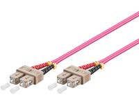 MicroConnect SC/UPC-SC/UPC 0.5m 50/125 OM4 MM Duplex LSZH OD: 2mm, 0.3dB FIB2220005-4 - eet01