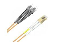 FIB740001 MicroConnect FC/UPC-LC/UPC 1M 62.5/125 OM2 Multimode Duplex LSZH - eet01