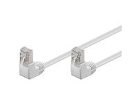 FTP50025WAA MicroConnect FTP CAT5E 0.25M White 90 angled - eet01