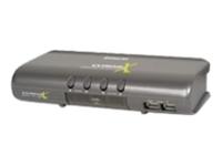 IOGEAR 4 Port USB/PS2/Audio/Periphera Sharing Switch Kit w/Cables GCS1734 - eet01