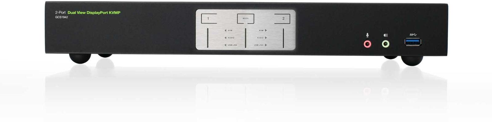 IOGEAR 2-Port 4K Dual View Disp.Port KVMP Switch (TAA) GCS1942 - eet01