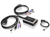 IOGEAR 2-port USB DVI-D Cable KVM W/ Audio and Mic GCS932UB - eet01