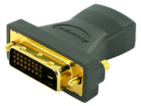 IOGEAR Gold-plated HD (F) to DVI-D Dual Link (M) Adapter GHDFDVIMW6 - eet01