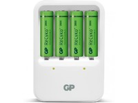 GP Batteries RECYKO CHARGER 420 White Incl. 4 ReCyko AA batteries GPPB420GSE210 - eet01