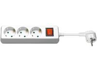 MicroConnect 3-way Schuko Socket 3M White With Illuminated Switch GRU0033WS - eet01