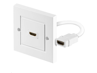 HDMWALL1 MicroConnect HDMI wall socket 1 port white 1080P, 3D. HDCP, High speed. - eet01