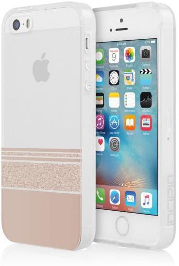Incipio Design Series iPhone SE Wesley Stripes Rose Gold IPH-1444-RGD - eet01