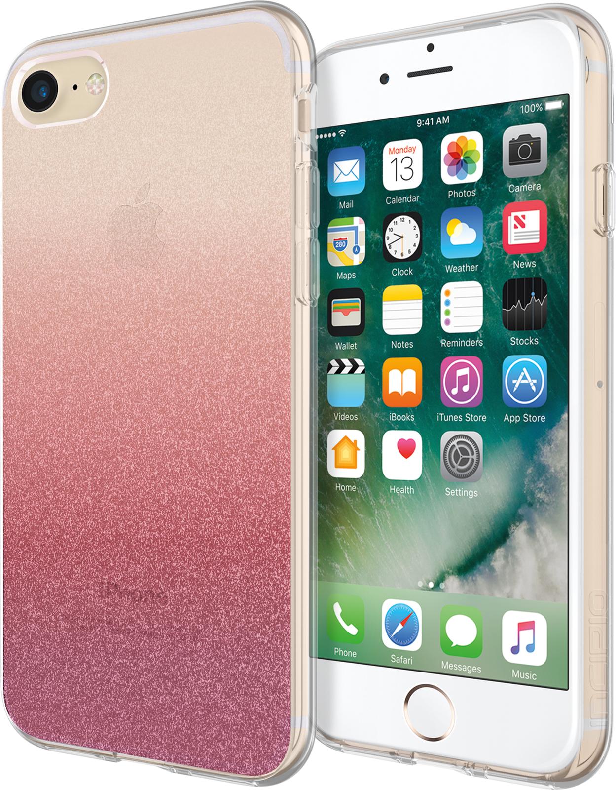 Incipio Design Series iPhone 7 Cranberry Sparkler IPH-1483-CSP - eet01
