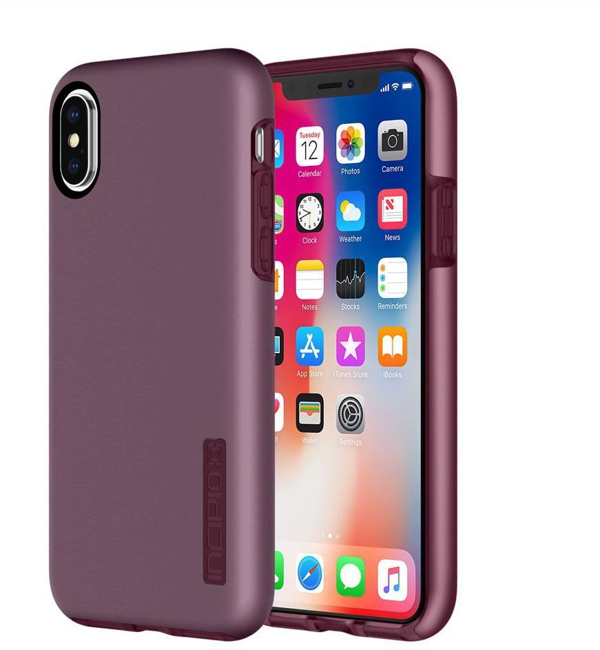 Incipio DualPro Iridescent iPhone X Merlot IPH-1629-MLT - eet01