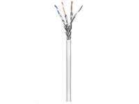MicroConnect S/FTP CAT6  305m White, PVC Solid, AWG23, CCA KAB017-305 - eet01