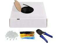 MicroConnect U/UTP CAT6 Outdoor 305m SET Solid, AWG 24/1, CCA, Black, KAB033-305 - eet01