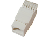 MicroConnect U/UTP CAT5e  Keystone Jack. 180 degree, White KEYSTONE-3 - eet01
