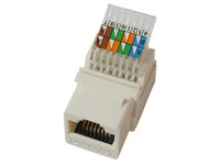 MicroConnect UTP Cat. 6  Keystone Jack. Toolless, White KEYSTONE-6 - eet01