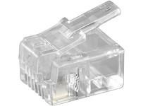MicroConnect Modular Plug RJ11 6P4C, 10pcs Unshielded version, KON501-10R - eet01