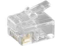 MicroConnect Modular Plug RJ12 6P6C, 10pcs Unshielded version, KON502-10R - eet01
