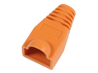 KON503O MicroConnect Boots RJ45 Orange 50pack 50pcs in one bag - eet01