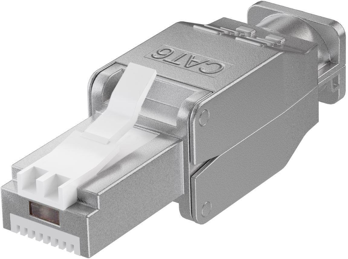 MicroConnect Tool-free RJ45 CAT6 connector CAT 6 STP(shielded) KON522TL - eet01