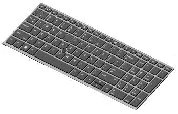 HP Keyboard(DUTCH) W. Backlight L14366-B31 - eet01