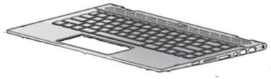 HP Top Cover W Kb Ff Bl Swiss  L18953-BG1 - eet01
