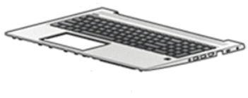HP Top Cover W/Kb Cp Bl Cs/Sk  L45090-FL1 - eet01