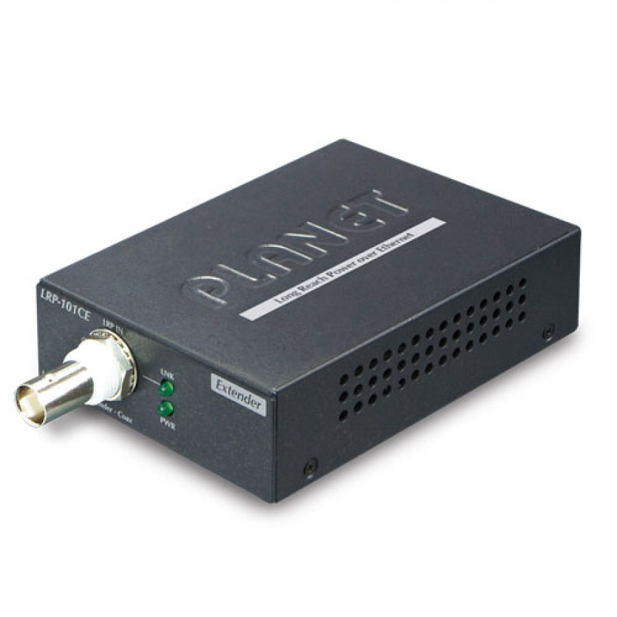 Planet 1-Port 10/100TX POE PSE + 1-Port Coax Long Reach POE LRP-101CE - eet01