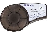 Brady Black on White 6,4m x 6,35mm Polyester M21-250-423 - eet01