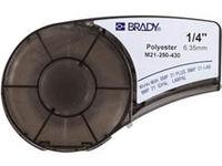 Brady Black on Clear 6,4m x 6,35mm Polyester M21-250-430 - eet01