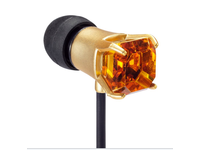 Maroo Earphones GEM Collection With Amber Stone Gold MA-EP7004 - eet01