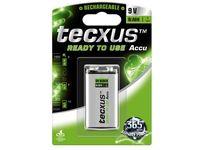 Tecxus Accu Ni-Mh 9V-Block 200 mAh RTU rechargeable batteries MBR9V200 - eet01