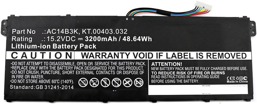 MicroBattery Laptop Battery for Acer 48.64Wh Li-ion 15.2V 3200mAh MBXAC-BA0043 - eet01