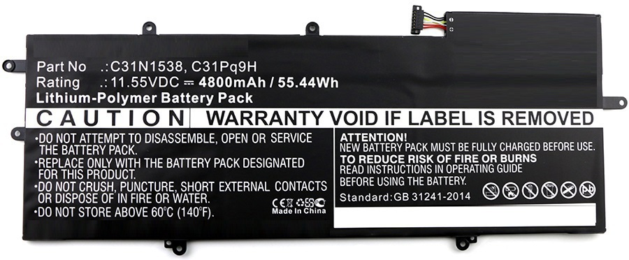 MicroBattery Laptop Battery for Asus 55Wh Li-Pol 11.55V 4545mAh MBXAS-BA0023 - eet01
