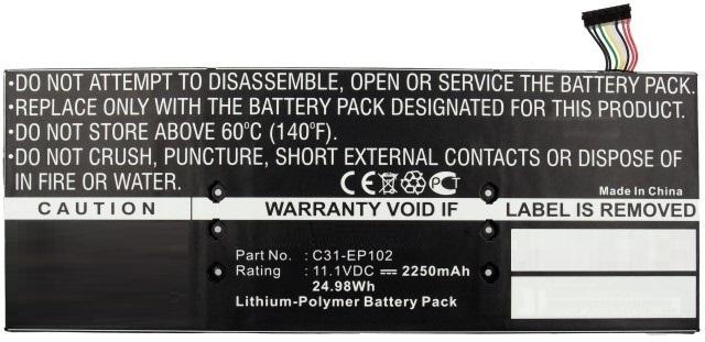 MicroBattery Laptop Battery for Asus 24.97Wh Li-Pol 11.1V 2250mAh MBXAS-BA0030 - eet01